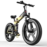 G-Force Electric Bike, 26 4.0inch Fat Tire Mountain Electric Bike with 350W brushless Motor, 48V 10.4A Battery, Maximum Speed 30MPH, Maximum Endurance 40 Miles.