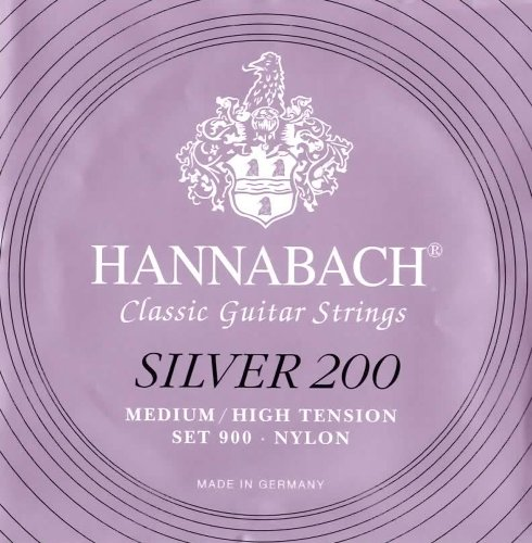 Hannabach 652667 Klassikgitarrensaiten Serie 900 Medium / High Tension Silver 200 - Satz