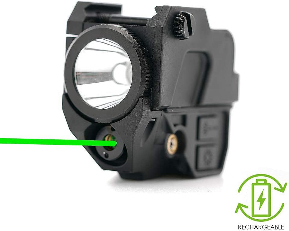 IRON JIA'S Tactical Combo Green Laser Sight,220 lumens LED Flashlight, 2-in-1