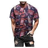 Xmiral T Shirt Uomo Primavera Estate Casual Slim 3D Stampato Camicetta a Maniche Corte (XXL,8Multicolore)