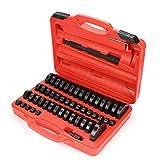 KingSaid 51 Pcs Montage Disques treibsatz pour pièce de Pression 52 pièces Kit d'outils treibsatz Roulement Bols Changement Insertion emmanchement 18–65 mm et 74 mm