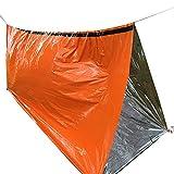 JIEHED Emergency Sleeping Bag, Thermal Waterproof Survival Sleeping Bag PE Aluminium Folie Lightweight Reflective Lining Interior Thermal for Music Festivals Outdoor Camping Hiking