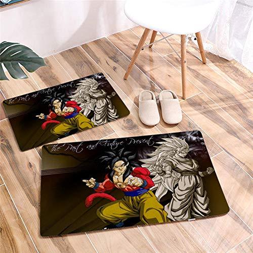 Gedrukte Cartoon Dragon Ball deurmat vloermat bureaustoel antislip badkamer vloerkleden Flanel tapijt hal deurmat-EEN_50 * 80