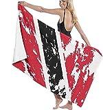 Toalla De Playa Toallas Bañon,Bandera De Trinidad Y Tobago, Microfibra para Hombres Y Mujeres, Ideal para Nadar, SPA, Viajes, Yoga, Deportes, Acampar, Tumbona, Baño O Ducha70X140Cm (28X56 Pulgadas)