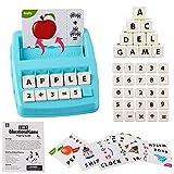 deAO Passendes Buchstabenspiel Lernspielset Objekt-, Buchstaben- und Worterkennung mit Rechtschreib- und Rechenfunktionen - Tolles Lernspiel für Kinder
