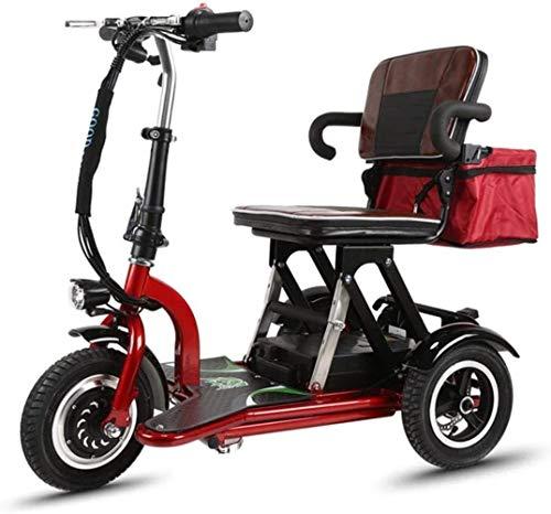 Mini eléctrico triciclo Vespa vieja eléctrica plegable de coches de minusválidos adultos...