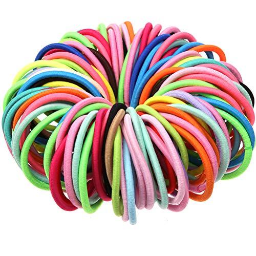 Yiyiter Haarbandenset, kleurrijke dikke haarbandjes, elastische haarbandjes, haarbägende Scrunchies, haartouw, elastiekjes voor meisjes en vrouwen