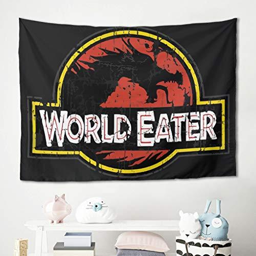 Ouniaodao Fashion World-Eater Dinosaurs Beware Wall Art – Jurásico para el Día de la Madre Regalo Yoga Mat Blanco 91 x 59 pulgadas