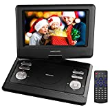 DBPOWER MP0561 10.5' Portable DVD Player with Rechargeable Battery, SD...