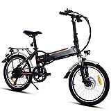 Speedrid Elektrofahrrad E Bike 20/26 Zoll Elektrisches Fahrrad mit 36V 8Ah/12.5Ah Lithium-Batterie,...