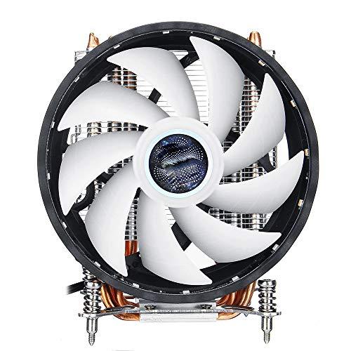 Xhtoe Computer Koeling Ventilator CPU Koeling Ventilator 12 cm 6 Koperen Buizen 3 Draden Enkele Ventilator Luchtkoeler RGB Licht Vaste CPU Radiator Grijs Standaard Case Ventilator
