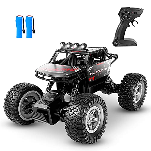 HENEROAR RC Cars,1:14 Scale All Terrains Remote Control Car, 4WD 2.4GHz Off Road Monster Vehicle RC Truck Crawler with Dual Moters, 2 Rechargeable Batteries for 90 Min Play, Toy Gift for Boys Girls