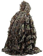 Realista 3D Deja Camuflaje Poncho Cloak Stealth Trajes al Aire Libre Woodland CS Juego Ropa para Caza Disparos