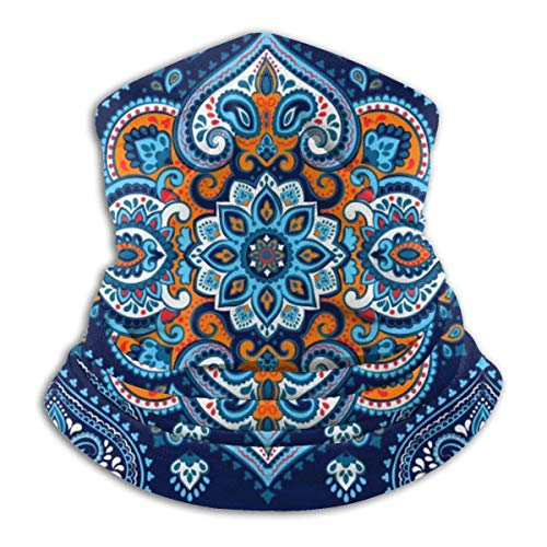 senob In-dian Rug Paisley Ornament Pattern. Ethnic Mandala Towel Comfortable Fleece Neck Warmer Balaclava Hood