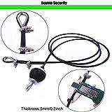 Cable de Acero para Fitness, 3M Sistema de polea de la máquina de Gimnasio Cable de Acero Resistente Cuerda de Alambre de Fitness Ascensor Gym Equipment Tire hacia Abajo el Cuidado Personal