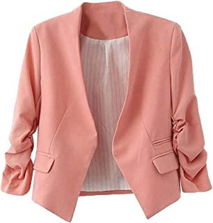 promo code 969ba 211ca Amazon.it: giacca rossa donna elegante - Rosa / Giacche da ...