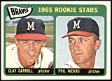 1965 Topps # 461 Braves Rookies Phil Niekro/Clay Carroll Milwaukee Braves (Baseball Card) VG/EX Braves. rookie card picture