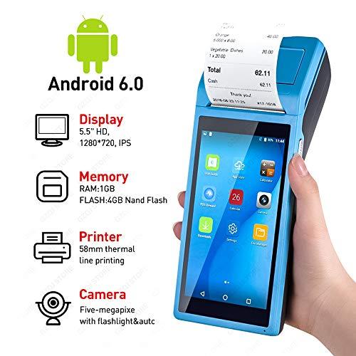TQ PDA POS Handgerät Pos Terminal in thermischen Bluetooth-Drucker 58mm WiFi Android Rugged PDA Barcode-Kamera Scaner 1D 2D gebaut