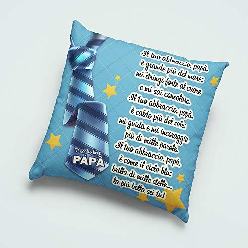 Funda de cojín cuadrada con texto 'Dedica papá' para el día del padre (no relleno), solo funda de almohada.