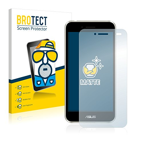 BROTECT 2X Entspiegelungs-Schutzfolie kompatibel mit Asus PadFone S PF500KL Phone Bildschirmschutz-Folie Matt, Anti-Reflex, Anti-Fingerprint