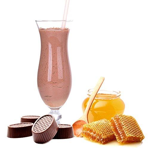Praline Honig Geschmack Eiweißpulver Milch Proteinpulver Whey Protein Eiweiß L-Carnitin angereichert Eiweißkonzentrat für Proteinshakes Eiweißshakes Aspartamfrei (10 kg)