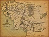 Kopoo Lord of The Rings - Middle Earth MAP Poster - 16x24(40x60cm)