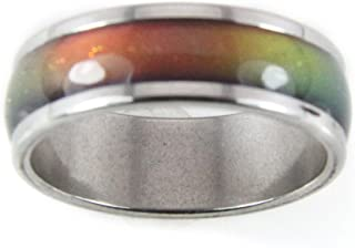 Mood Rings 8mm Solid Heavy Gauge Stainless Steel New Thinner Band 70's Style Not Very