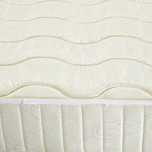 Colchón de muelles Kokey-xy con una Capa de Espuma viscoelástica, Espuma con Efecto Memoria, Single 3ft, 90x190x20cm… (90 x 190 cm)