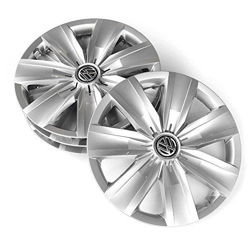 Volkswagen 2GA071456 wieldoppen (4 stuks) 16 inch wieldoppen briljant zilver