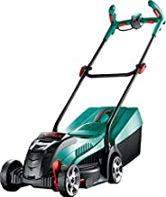 Bosch 0600885D73 Cordless Lawnmower Rotak 32 LI (32 Volt, 1 Battery 2.0 Ah, Cutting Width: 32 cm, Lawns up to 150 m², In C...
