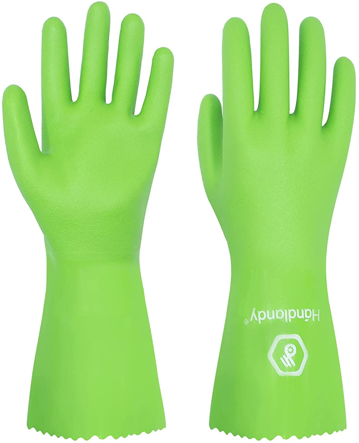 HANDLANDY Chemical Easy-to-use Resistant Gloves Challenge the lowest price of Japan ☆ Nitrile Heavy Reusable,