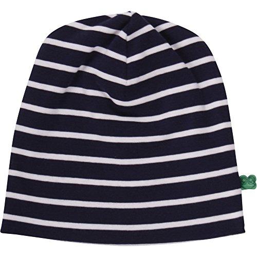 Fred's World by Green Cotton Unisex Baby Stripe Beanie Mütze, Blau (Navy/Cream 019800002), (Herstellergröße: 68/74)