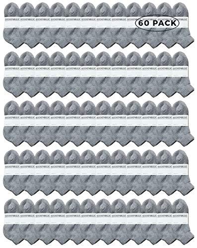 Yacht & Smith 60 Pairs Kids Ankle Wholesale Bulk Pack Athletic Sports Socks, by SOCKS'NBULK (Gray)