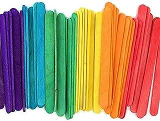 kedudes 冰棒木彩色工艺棒,4-1/2 英寸 - 240 支装 - 工匠、教师和学生的理想选择 240 Sticks