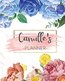 Camille's Planner: Monthly Planner 3 Years January - December 2020-2022 | Monthly View | Calendar Views Floral Cover - Sunday start