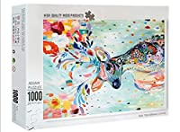 塗装された鹿のジグソーパズル1000個-大人のレジャーとエンターテイメントのパズル-子供の教育用おもちゃのパズル