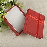HLH 1 caja organizadora de joyas de 4 x 4 x 3 cm, 8 x 5 x 2,5 cm, 9 x 7 x 3 cm, caja de regalo pequeña para joyería anillo pendiente reloj (color 9 x 7 x 3 cm), color rojo