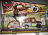Disney Pixar Cars, Carburetor County Road Trip, Mater Die-Cast Vehicle with Trailer