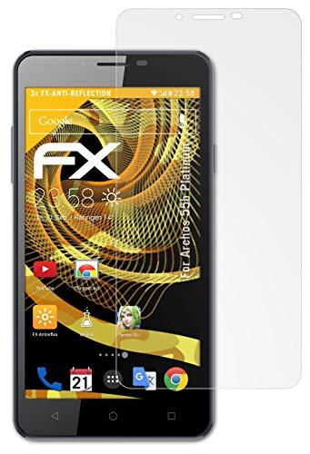 atFolix Panzerfolie kompatibel mit Archos 55b Platinum Schutzfolie, entspiegelnde & stoßdämpfende FX Folie (3X)