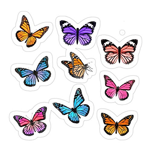 DKISEE (3 PCs/Pack Butterfly Set Die-Cut Stickers Decals for Laptop Window Car Bumper Helmet Water Bottle 4 inches