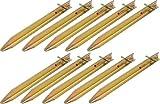 Moritz Stahl T-Profil Hering Zelthering Stahl T-Profil Hering Zelthering Camping 30-40 oder 50 cm (10 Stück, 40 cm)