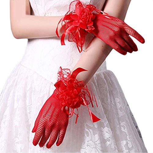 Gants de mariée mariage robes de soirée dentelle gants courts B20