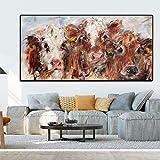tzxdbh 13 Piezas de Pintura Retro Europea Color Vaca HD surrealismo Arte de la Pared Sala de Estar Pintura Abstracta 30x45cm Pas Sin Marco