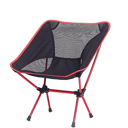 Silla Plegable con Bolsa de Almacenamiento sillón de Playa al Aire Libre Silla de préstamo Ultraligera de Tubo de Hierro Silla de Camping portátil compacta
