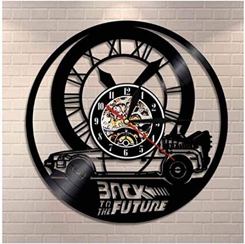 GVSPMOND Disco De Vinilo Reloj De Pared Regreso Al Futuro Reloj De Pared Creativo Hogar Moderno Decoración De Discos De CD Decoración Retro De La Sala De Estar Reloj De Pared Regalo 12 Pulgadas