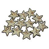 Parche de estrella, 12 piezas DIY con lentejuelas patrón de estrella bordado pegatina ropa parche ropa vestido planta sombrero Jeans coser flores apliques DIY accesorio