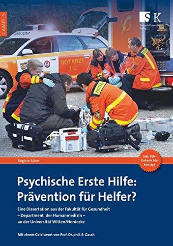 Psychische Erste Hilfe: Prävention für Helfer? (Campus)