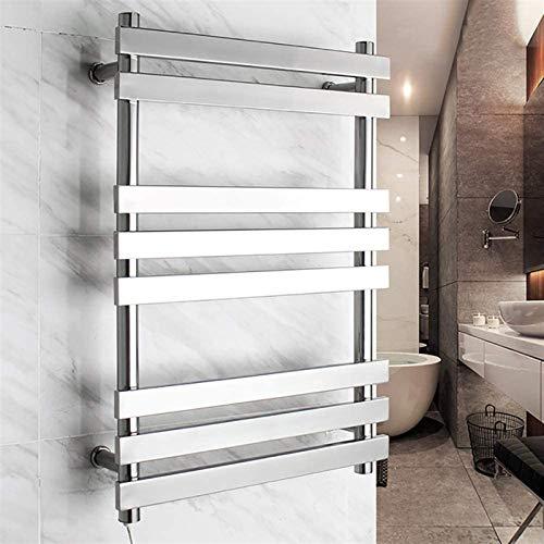 TUHFG Radiador toallero para bañera, moderno soporte de pared eléctrico, acero inoxidable 304, para toallas secas (tamaño: Hard Wire)