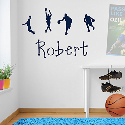 Stickers muraux personnalisés pour décoration murale de fenêtre Motif basketball