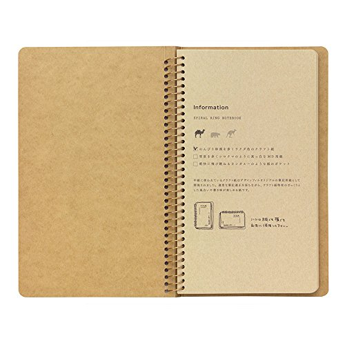 1 X Midori-spiral ring notebook camel blank notebook Photo #7